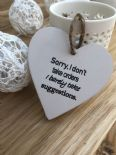 Shabby Personalised Chic Heart Plaque ~ Friend ~ Humour ~ Birthday Present Gift - 253453030180
